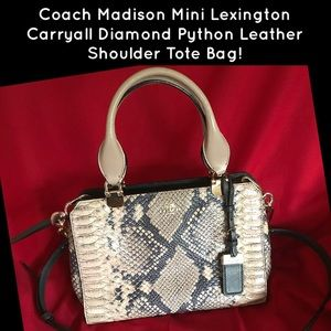Coach Madison Mini Lexington Diamond Python Bag!
